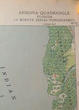 Authentic 1948 Ankona Florida Topographic  7.5 Minute Series Quadrangle Map