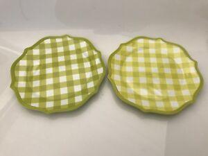 Rare! The Pioneer Woman Lime Dinner Plates Melamine