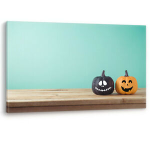 Halloween Decoration Jack o Lantern Pumpkin Canvas Wall Art Picture Print A0 A2