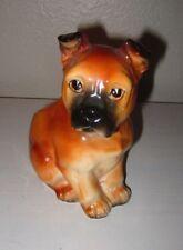 Vintage Lefton Japan Boxer Puppy Dog Ceramic Planter H4906