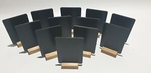 A6 x 12 TABLE TOP CHALKBOARD BLACKBOARD + FREE LIQUID CHALK PEN
