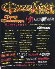 True Vintage Ozzfest  Concert T-Shirt Tour 2003 Size XL Ozzy Osbourne Korn