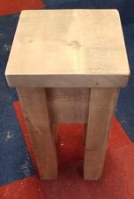 NEW SOLID WOOD RUSTIC CHUNKY PLANK , END TABLE, SIDE TABLE , CHUNKY LEGS & TOPS
