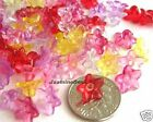 Wholesale500 Multi Flowers Acrylic Plastic Charm Beads