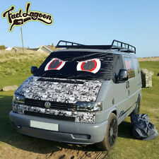 VW T4 Campervan Front Window Screen Cover Blackout Blind Wrap Angry Red Eyes