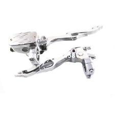 22mm Universal Motorcycle Flame Brake Clutch Master Cylinder Reservoir levers