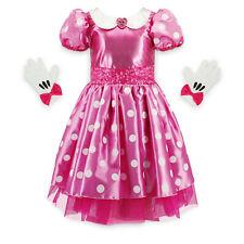 NWT Disney Store Minnie Mouse Pink Costume Polka Dot Dress GIrls Size 5/6