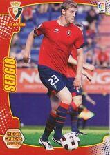 N°203 SERGIO FERNANDEZ GONZALEZ # CA.OSASUNA CARD PANINI MEGA CRACKS LIGA 2012