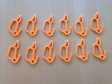 12 Pack Orange Crab Pot & Crab Trap Hooks, USA Made