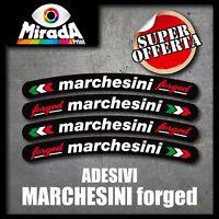 Adesivi / Stickers moto MARCHESINI forged4 bianco nero TOP QUALITY ALTAQUALITA'