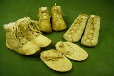 ANTIQUE VINTAGE LEATHER BABY SHOES SMALL SIZES NICE FOR BISQUE COMPOSITION DOLL