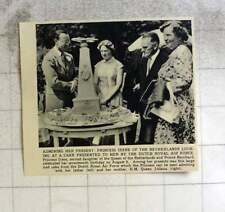 1956 Princess Irene Presented With Cake By Dutch Royal Air Force
