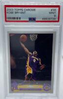 2003 TOPPS CHROME KOBE BRYANT LOS ANGELES LAKERS NBA BASKETBALL #36 PSA 9 MINT