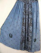 SK277~TIENDA HO~FADED BLUE~RAYON CIRCLE SKIRT~Indian~Embroidery~OS~M-1X?