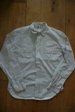 MHL Margaret Howell Grey Striped Cotton Shirt. M