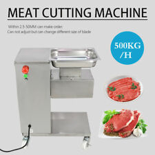 Meat Cutting Machine Meat Cutter Slicer 500KG Output with Two Sets Blade