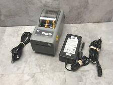 ZEBRA ZD410 THERMAL LABEL PRINTER USB & BLUETOOTH ZD41022-D01M005M + PWR SUPPLY
