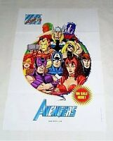 "1999 Marvel Comics 36x24"" Avengers poster 1:Captain America/Thor/Iron Man/3x2 ft"