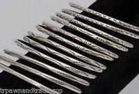 Native American Navajo Indian Sterling Silver Cuff Bracelet Tahe Handmade .925