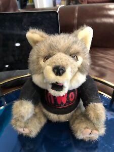 "Vintage Plush WCW NWO Wolfpac 11"" Wolf Stuffed Animal WWE Steven Smith"