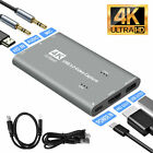 4K+60fps+HDMI+to+USB+3.0+Video+Capture+Card+Game+Live+Streaming+Recorder+Device