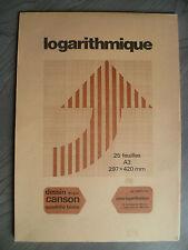 semi-lagarithmique CANSON 25 feuilles A3 dessin 90 g/m2 2957-105