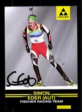Simon Eder Autogrammkarte Original Signiert Biathlon+A 125040