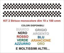 Kit Adesivi scacchiera Strisce fasce 10 x 100 cm 2 pz tuning auto moto stickers