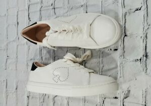 Kate Spade Angelise White Leather Silhouette Sneakers Tennis Shoes WOMENS 9.5 B