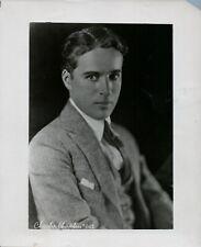 "Charlie Chaplin Original Photo 8"" x 10"" Has Tape Over Tear On Right Side"