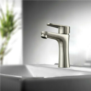 304 Stainless Steel Basin Faucet Brushed Bathroom Sink Faucets