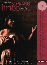 Arias for Lyric Soprano Cantolopera Series Book CD Pack Vocal Collecti 050486844