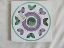"Caleca Violetta Hand Painted in Italy- Purple/Green- Trivet 7 7/8"" - 2 Available"