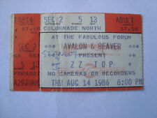 Zz Top 1986 Concert Ticket Stub The Forum Los Angeles