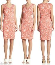 NWT $425 Tory Burch Silk Knit Floral Print Sleeveless Dress Size XL