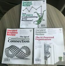 3 Harvard Business Review Magazines - May to October 2019