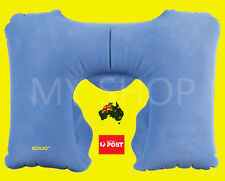 KORJO Inflatable Snooze Cushion Neck Pillow Head Rest With Free Sleeping Mask