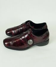 Rieker Ladies Burgundy Patent Leather Casual Comfort Shoes UK Size 4 EU 37