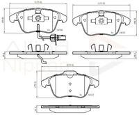 Ate - Teves Borg /& Beck BBP2184 Front Brake Pads Includes Wear Indicators//Leads