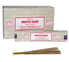 WHITE SAGE Bulk Buy 3/12 Pack Box 15g Satya Nag Champa Incense Joss Sticks
