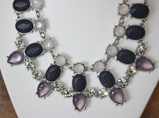 Lia Sophia Cosmic Dust Necklace~Silver Tone Necklace with Crystals