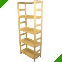 solides Holzregal Bücherregal Regale Holzregale aus Holz Badregal Ordnerregal