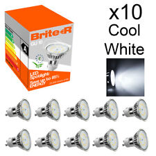 Paquete De 10 3 W GU10 LED Lámpara proyector Focos Blanco Frío Luz del día 6500K un