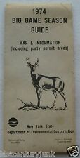 Brochure For New York State 1974 Big Game Season Guide Map & Infomation