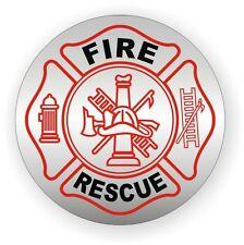 Fire Rescue Hard Hat Decal // Helmet Sticker Firefighter Paramedic Emergency EMT