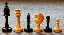 "GENUINE EBONY SLENDER CHESS MEN - STANDARD SET IN ELEGANT STYLE - K=4¼"" (710)"