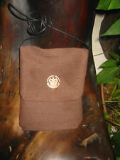 Reddish Brown with Aztec Designed Bone Passport Bag