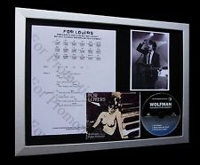 WOLFMAN+For Lovers+Doherty+LIBERTINES+LTD Nod CD FRAMED DISPLAY+FAST GLOBAL SHIP