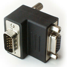 Adaptador VGA/SVGA en ángulo recto-Conector Adaptador 90-270 grados macho a hembra