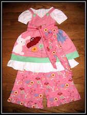 Ivylane Boutique Resell Woodland Owl Bunny Dress~Ruffles 4pcSet 3 4 FREE US SHIP